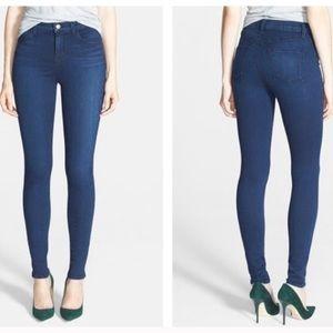 J Brand Maria High Rise Skinny Jeans Destiny Blue